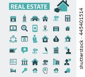 real estate icons | Shutterstock .eps vector #445401514