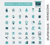 research development icons | Shutterstock .eps vector #445401544