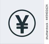 coin icon  yen icon sign icon...   Shutterstock .eps vector #445402624