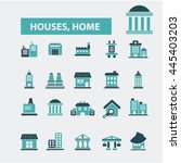 houses  home icons | Shutterstock .eps vector #445403203