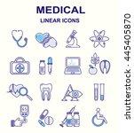 medical linear symbols.... | Shutterstock .eps vector #445405870