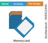 memory card icon. flat color...