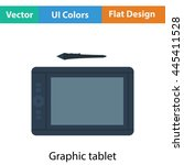 graphic tablet icon. flat color ...
