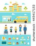 school education design... | Shutterstock .eps vector #445417153