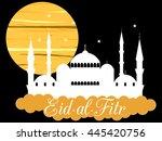 ramadan kareem  blue mosque.... | Shutterstock .eps vector #445420756