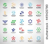 network icons set   isolated on ... | Shutterstock .eps vector #445420780