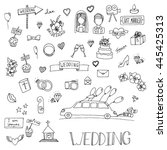 wedding set icon. hand drawn...
