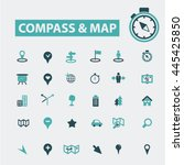 compass map icons | Shutterstock .eps vector #445425850