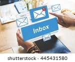 Stock photo email inbox electronic communication graphics concept 445431580