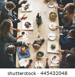business people lunch... | Shutterstock . vector #445432048