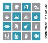 food   drink icon set. eps 10. | Shutterstock .eps vector #445435630