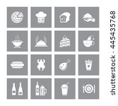 food   drink icon set. eps 10. | Shutterstock .eps vector #445435768