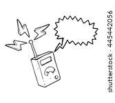 freehand drawn speech bubble... | Shutterstock .eps vector #445442056