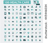 health care icons | Shutterstock .eps vector #445446034