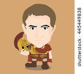 julius caesar character | Shutterstock .eps vector #445449838