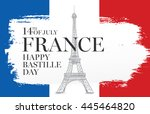 france. 14 th of july. happy... | Shutterstock .eps vector #445464820