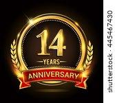 celebrating 14 years...   Shutterstock .eps vector #445467430