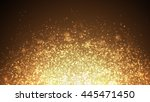 dark gold sparkle rays lights... | Shutterstock . vector #445471450
