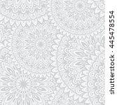 vector round mandala. decor for ... | Shutterstock .eps vector #445478554