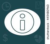 information line icon | Shutterstock .eps vector #445480960
