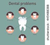 medical infografics  dental... | Shutterstock .eps vector #445488388