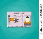 id card. identity card ... | Shutterstock .eps vector #445489606