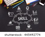skill chart with keywords and... | Shutterstock . vector #445492774
