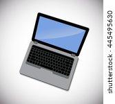 laptop vector illustration   Shutterstock .eps vector #445495630