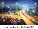 smart city and wireless... | Shutterstock . vector #445496200