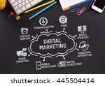 digital marketing chart with... | Shutterstock . vector #445504414