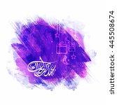 elegant greeting card design...   Shutterstock .eps vector #445508674