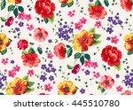 seamless cuban floral pattern... | Shutterstock .eps vector #445510780