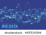 big data visualization.... | Shutterstock .eps vector #445514344