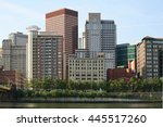 a close view of the pittsburgh... | Shutterstock . vector #445517260