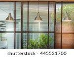 venetian blinds by the window... | Shutterstock . vector #445521700