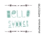 uncommon vector hand drawn with ... | Shutterstock .eps vector #445521730
