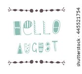uncommon vector hand drawn with ... | Shutterstock .eps vector #445521754