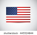 vector image of american flag ... | Shutterstock .eps vector #445524844