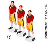 soccer player. athlete football ... | Shutterstock . vector #445529743