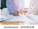 architects concept  architects... | Shutterstock . vector #445539148