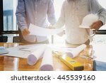 architects concept  architects... | Shutterstock . vector #445539160