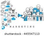 marketing team on white...   Shutterstock .eps vector #445547113