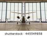 private corporate jet parked in ...   Shutterstock . vector #445549858