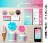 vector ice cream corporate... | Shutterstock .eps vector #445550203