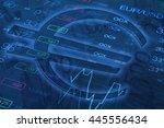 euro sign. money background.... | Shutterstock . vector #445556434