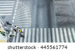 busy city people are walking to ... | Shutterstock . vector #445561774