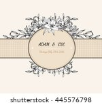 lily flower card vector by hand ...   Shutterstock .eps vector #445576798
