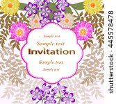 invitation or wedding card with ... | Shutterstock .eps vector #445578478