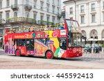 milan  italy   august 2014 ... | Shutterstock . vector #445592413