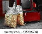 solid fuel boiler with pellet... | Shutterstock . vector #445595950